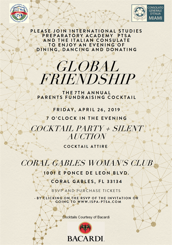 7th Annual Parents Fundraiser Cocktail @ Coral Gables Woman's Club | Coral Gables | Florida | United States